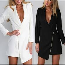 suit dress coat suit dress black white zip v neck dress dress