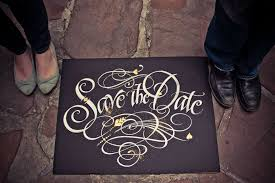 save the date signs save the date of