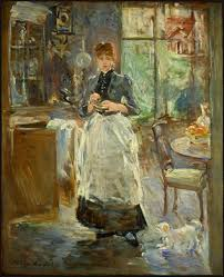 In The Dining Room Artblecom - Berthe morisot in the dining room