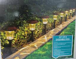 Landscaping Solar Lights by Hgtv Solar Led Pathway Lights 8 Pack Amazon Com