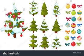 christmas tree christmas balls decorate christmas stock vector
