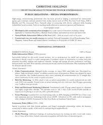 relations resume template pr resumes matthewgates co