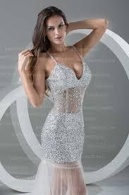 2017 spaghetti strap tulle beads floor length evening dresses