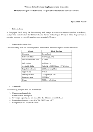 Radio Operator Resume Dimensioning And Cost Structure Analysis Of A Wide Area Data Service U2026