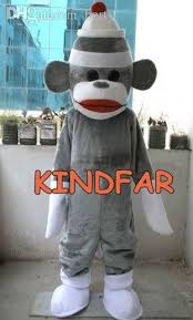 sock monkey costume wholesale professional sock monkey mascot costume size fancy