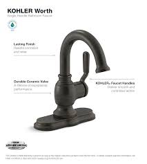 Bathroom Faucets Beautiful Kohler Faucet by Kohler Worth Single Single Handle Bathroom Faucet In
