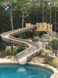 residential water slides for in ground swimming pools