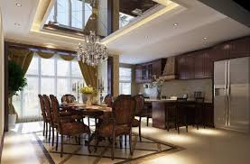 Classic Dining Room by Providing Luxury Classic Style On Spacious Dining Room Design