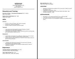Undergraduate Resume Template Word High Resume Template Word Resume Peppapp