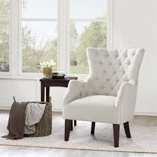 White Living Room Chair Havenside Home White Upholstered Solid Hardwood