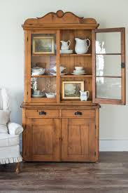 antique pine hutch miss mustard seed