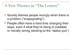 themes in the story the lottery understanding themes in the lottery