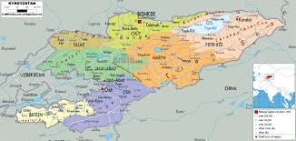 China Peak Map by Maps Of Kyrgyzstan Detailed Map Of Kyrgyzstan In English