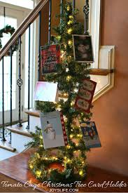 christmas holder how to make a tomato cage christmas tree card holder s