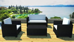 canape jardin resine salon de jardin 2 fauteuils résine noir lagos lestendances fr