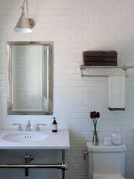 Console Sinks For Small Bathrooms - mid sized trendy bathroom photo in san francisco with a console