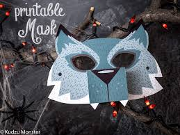 printable halloween werewolf mask for kids diy halloween