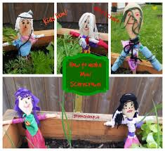 how to make mini scarecrowsgreenside up