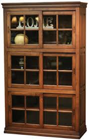 Bookcase With Glass Doors Daytona Bookcases With Sliding Glass Doors Bookcases Kloter Farms