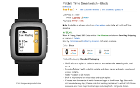 black friday pebble watch deal get a pebble time for just 89 95 on amazon