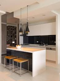 black white kitchen island interior design ideas