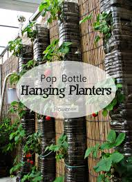 Vertical Veggie Garden Diy Hanging Planters Made With Pop Bottles Tutorial Vertical