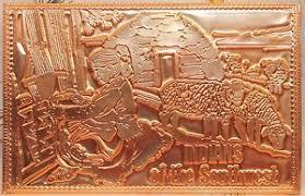 kopper kard postcards vintage southwest american indian embossed postcard copper card