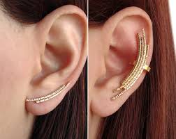 ear climber earring pair of sterling silver ear climber earrings bridesmaid