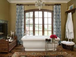 bathrooms traditional bathroom with white bathtub and patterned bathrooms traditional bathroom with white bathtub and patterned vurtain also glass chandelier modern bathroom designs