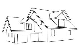 coloring page house house with garage in houses coloring page netart