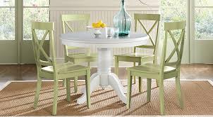 brynwood white 5 pc round dining set dining room sets white