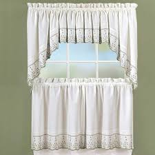 abby embroidered kitchen u0026 tier curtain chf industries