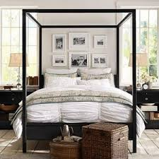 Black Canopy Bed Frame Bedroom Inspiring Bed Frame Style Ideas With Cozy Metal Canopy
