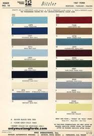 1968 ford color chart color chart for 1959 1968 ford u0026 mercury