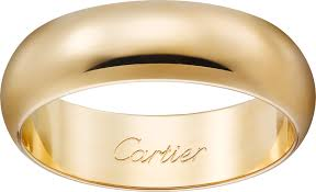 band gold crb4059600 1895 wedding band yellow gold cartier