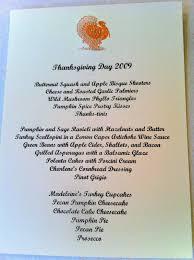 the cul de sac menus of thanksgivings past