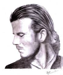 David Beckham Portrait by Arun Mathew - David Beckham Portrait Drawing - David Beckham Portrait Fine Art Prints ... - david-beckham-portrait-arun-mathew