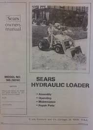 sears hydraulic loader 100 265161 garden tractor owner u0026 parts