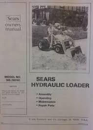sears hydraulic loader 100 265161 garden tractor owner u0026 parts