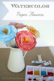 watercolor paper flower tutorial 3d watercolor paper peony flowers