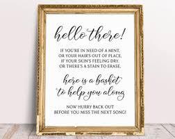 Poem For Wedding Bathroom Basket Bathroom Basket Etsy