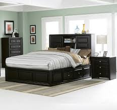 King Platform Bed With Drawers by Bedroom Awesome Bedroom Decoration With Single Brown Wooden Bed