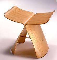Japonés Diseñador De La Mariposa Silla  Silla De Madera Silla - Butterfly chair designer