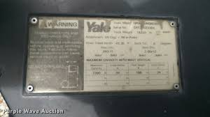 yale forklift item db0935 sold july 6 construction equi