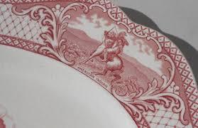thanksgiving turkey platter antique pink transferware thanksgiving turkey platter crown ducal