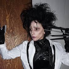 edward scissorhands costume gaga s edward scissorhands costume won