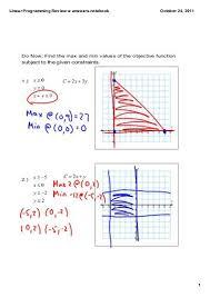 printables linear programming worksheet ronleyba worksheets