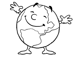 The Earth Coloring Page Vitlt Com Happy Coloring Pages