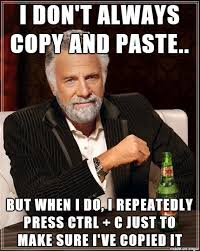Meme Copy And Paste - i don t always copy and paste rebrn com