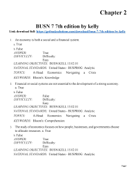 download test bank for busn 7 7th edition by kelly